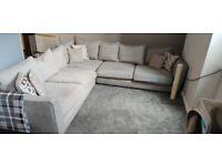 Large grey corner settee