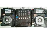 CDJ 2000 Nexus X 2 and a DJM 900 Nexus