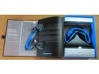 MONSTER DNA HEADPHONES IN ARCTIC BLUE-EXCELLENT CONDITION WITH BOX AND INSTRUCTIONS