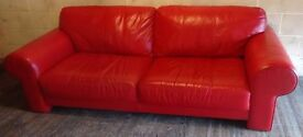 2 TWO SEATER LEATHER SOFAS WILL SPLIT IF ONLY 1 NEEDED