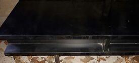 Black high gloss tv stand.