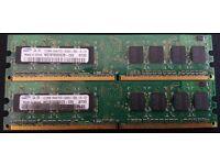Samsung M378T6553EZS-CE6 512MB Memory RAM PC2-5300U-555-12-ZZ