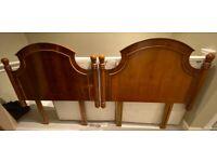 Pair of Rosewood Single Bed Headboards