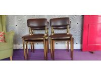 70's Vintage dinning chairs x 4