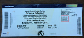 George Groves Tickets Tier 1 Great Seat - Manchester Arena, 17th Feb '18