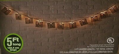 HALLOWEEN OUTDOOR HANGING LIGHTED BURLAP TRICK OR TREAT BANNER SIGN SET YARD LOT](Hang Outdoor Halloween Lights)