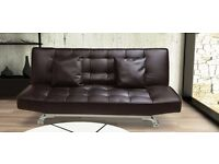 Designer Brown Sofabed Free Mainland UK Delivery & Free Assembly in your Home
