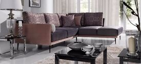 VENICE delivery 1-10 days Brand New Corner Sofa Easy to clean and Waterproof Fabric We can Delivered