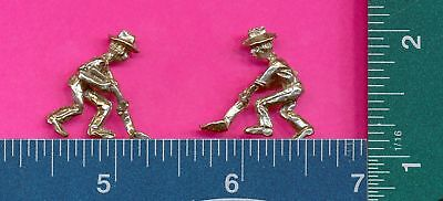 100 wholesale lead free pewter miner figurines m11020
