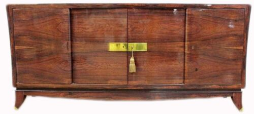 FRENCH ART DECO ROSEWOOD SIDEBOARD CREDENZA BUFFET JULES LELEU STYLE PALISANDER