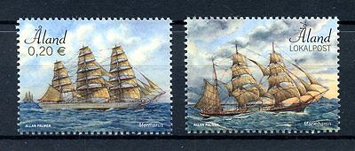 Aland 2017 MNH Sailing Ships Mariehamn Mermerus 2v Set Boats Stamps