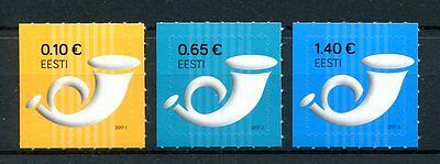 Estonia 2017 MNH Post Horn Definitives 3v S/A Set Postal Services Stamps