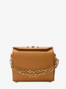 - NEW - ALEXANDER MCQUEEN Box Bag Grain Leather Satchel 19