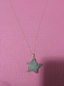 New Lucky Star stone with 14K yellow gold chain