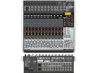 Behringer Xenyx QX2442USB Mixing/Desk/Sound/Console & Flight Case with lock