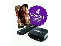 NOW TV BOX WITH 4 MONTH SKY MOVIE PASS