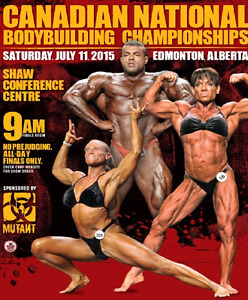 CBBF Bodybuilding Nationals Shaw Conference SAT Jul 1 9AM