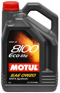 MOTUL ENGINE OIL SAE 0W20 %100 SYNTHETIC 5 L ON SALE !!