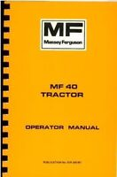 Wanted- operators manual for MF40