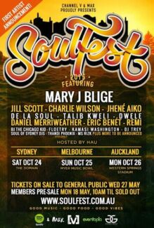 2015 Sydney Soulfest Industry Tickets. $140 Each Marrickville Marrickville Area Preview