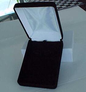 LONGER-High-End-BLACK-VELVET-Deluxe-Earring-Necklace-Ring-Jewelry-Set-GIFT-BOX