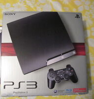 PS3 slim, controller, stand, and games for sale