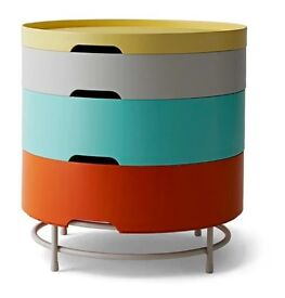 Round Stackable Bedside Table