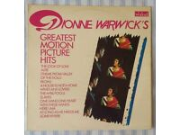 "Dionne Warwick 'Greatest Motion Picture Hits' 12"" VINYL LP 33⅓ RPM, £5 ONO"