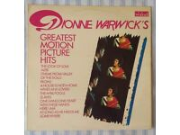 """Dionne Warwick 'Greatest Motion Picture Hits' 12"""" VINYL LP, £5 ONO"""