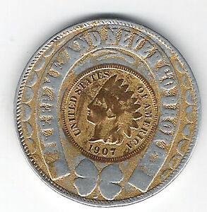 Coney Island Souvenir Token 1907 USA Penny