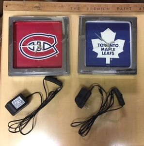 NHL neon lighted Clocks (Montreal / Toronto)