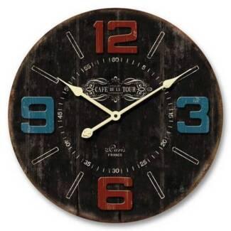 60cm Wooden Wall Clocks - Brand New