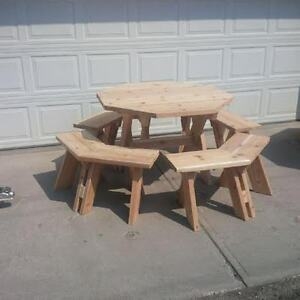 Octagon Picnic Table - Different size & woods available.