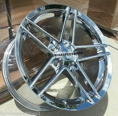 "Chrome C6 Z06 Style Corvette wheels FITS: 1988-1996 C4 CORVETTE 17X9.5"" CAMARO"