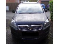 2010 Vauxhall, ZAFIRA, MPV, 2010, Manual, 1598 (cc), 5 doors MOT NOV '21 £1350