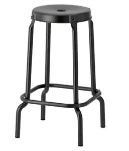 3 Black Ikea Bar Stools (RÅSKOG)