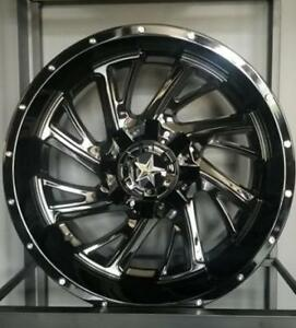 20x10 GLOSS BLACK WHEELS! DIRECTIONAL WHEEL with HUGE LIP! -Financing available -Ford-Excrusion - F-250 - F-350 - 883