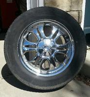 "Four Devtno 18"" Chrome Rims with Michelin Tires"