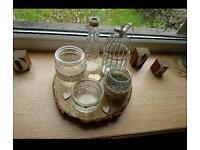 Assorted decorated jars