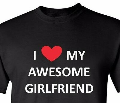 I Love My Awesome Girlfriend T Shirt Valentine's Day Gift Idea Christmas T-Shirt ()