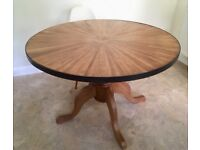 Bespoke Solid Oak Dining Table -seats 4 - 6 with ease