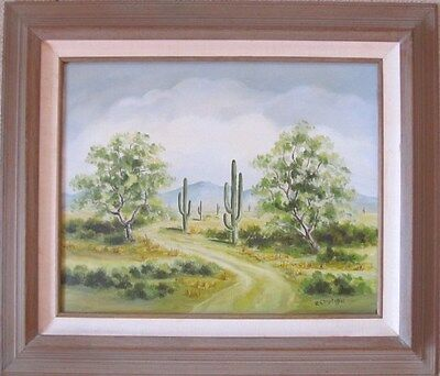 VINTAGE CHRISTOFFEL SIGNED PLEIN AIR OIL PAINTING CALIFORNIA DESERT CLOUDS (Desert Hills California)