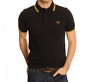 FRED PERRY Twin Tipped Black Polo Shirt - Size XXL / 2XL M3600