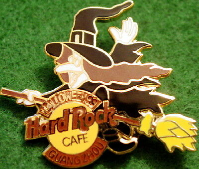 Hard Rock Cafe GUANGZHOU 1999 HALLOWEEN PIN Witch Riding Broom w HRC Logo #2730](Guangzhou Halloween)