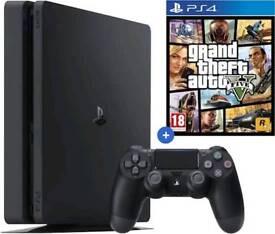 **BOXED PS4 SLIM + GTA 5**