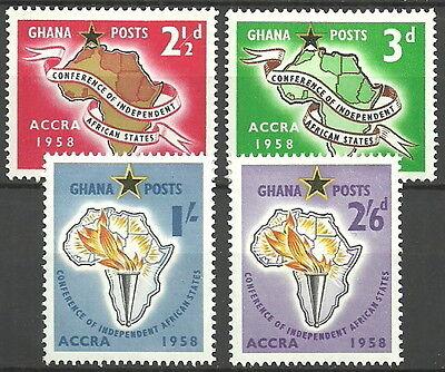 Ghana - ACCRA Konferenz Satz postfrisch 1958 Mi.Nr. 24-27