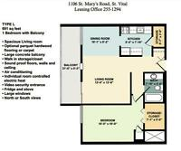 Large 1 Bedroom suites with Balcony