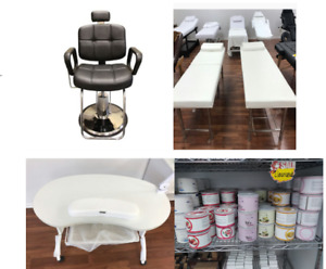 Open box sale(Barber chair,Stationary Massage Bed,Canned wax)