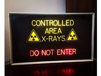1990s Light Up Operating Sign salvaged from a closed down Hospital! Vintage / Retro / Industrial