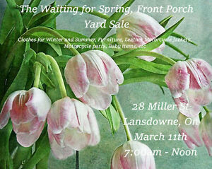Waiting for Spring, Front Porch Yard Sale